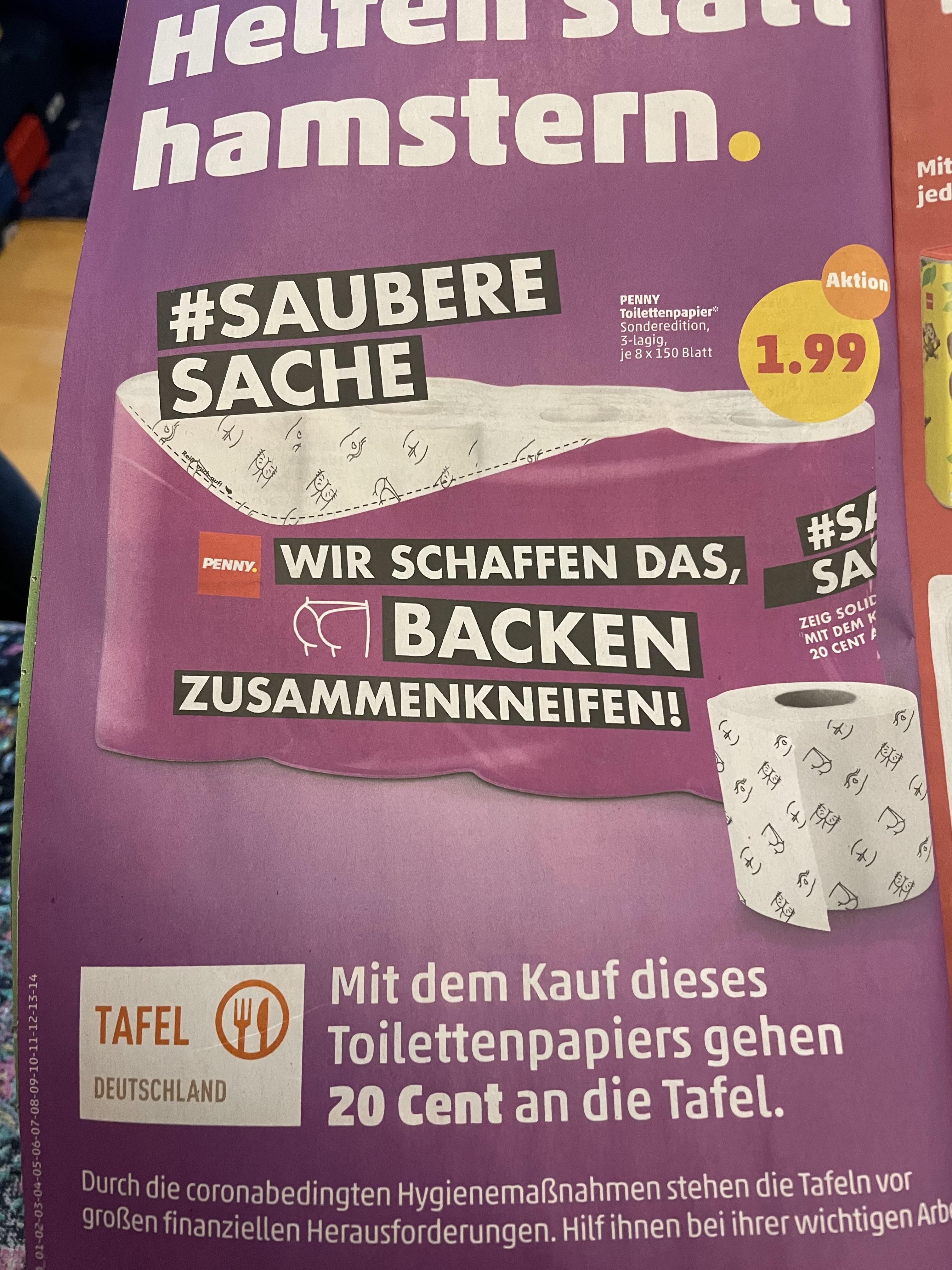 Toilettenpapier Po-Optik 8x150