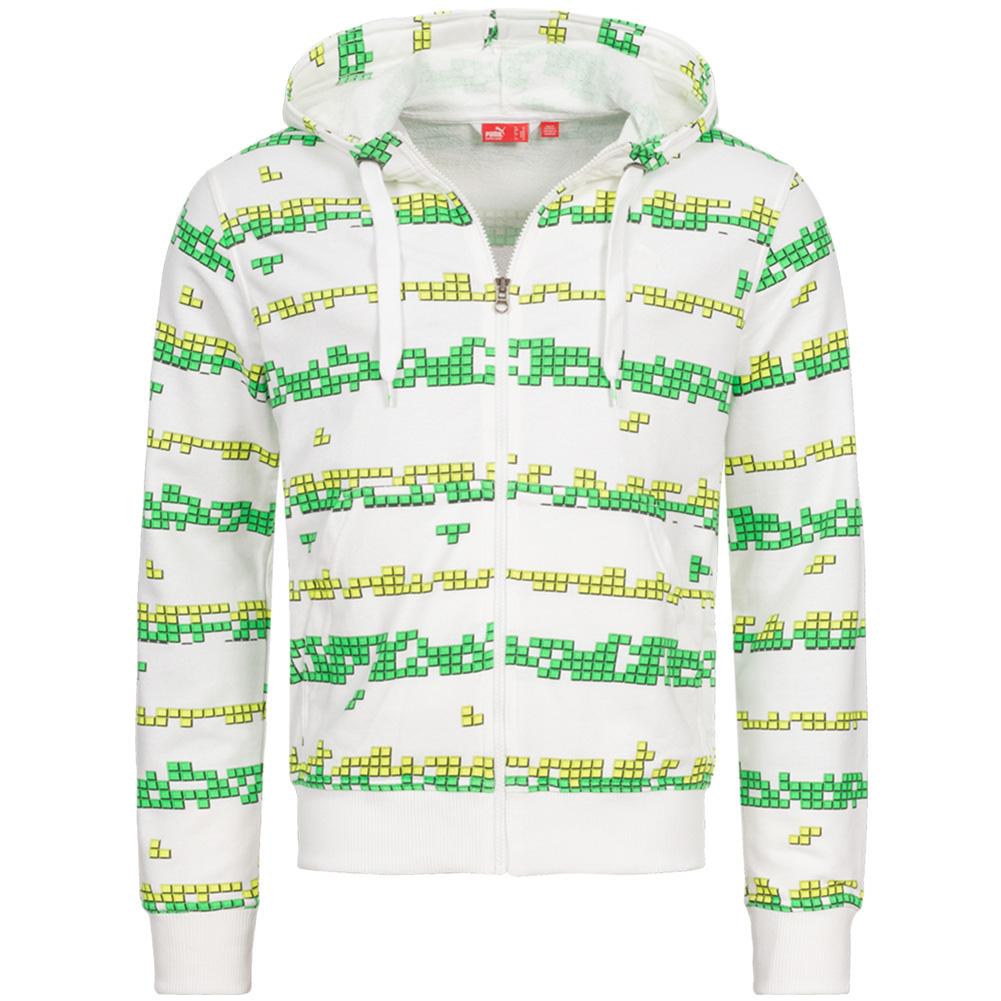 PUMA Herren Kapuzen-Sweatjacke Pixel Full Zip Hoody für 14,99€ + 3,95€ VSK (80% Baumwolle, Größe S - L) [SportSpar]