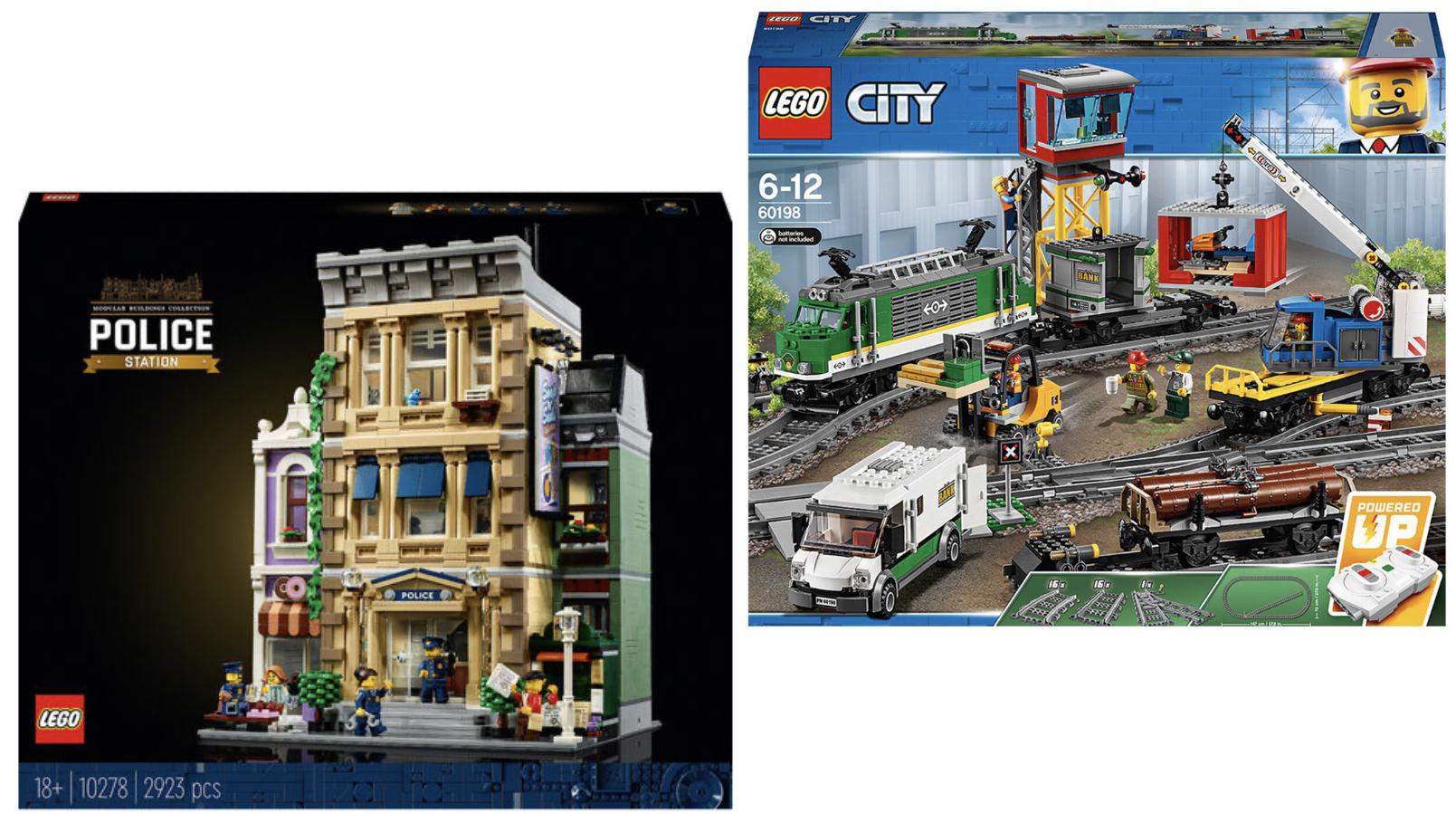 LEGO City 60198 Güterzug inkl. motorisierter Lok für 117,99€ / LEGO Creator 10278 Polizeistation für 159,99€ + 10% Shoop!