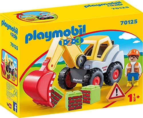 (prime) Bestpreis! Playmobil 70125 1.2.3 Schaufelbagger und andere Baustellenfahrzeuge