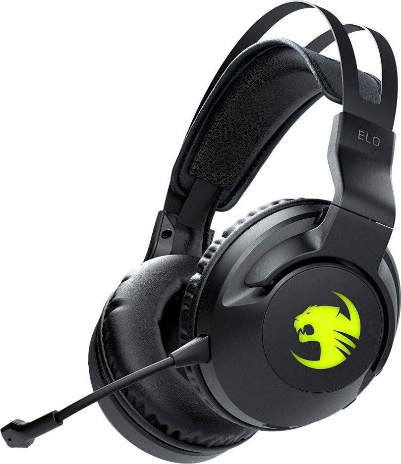 Roccat Elo 7.1 Air kabelloses Headset (Over-Ear, Virtual Surround, ~24h Akku, USB-C, 2.4GHz USB-Adapter, Mikrofon abnehmbar, RGB, 345g)