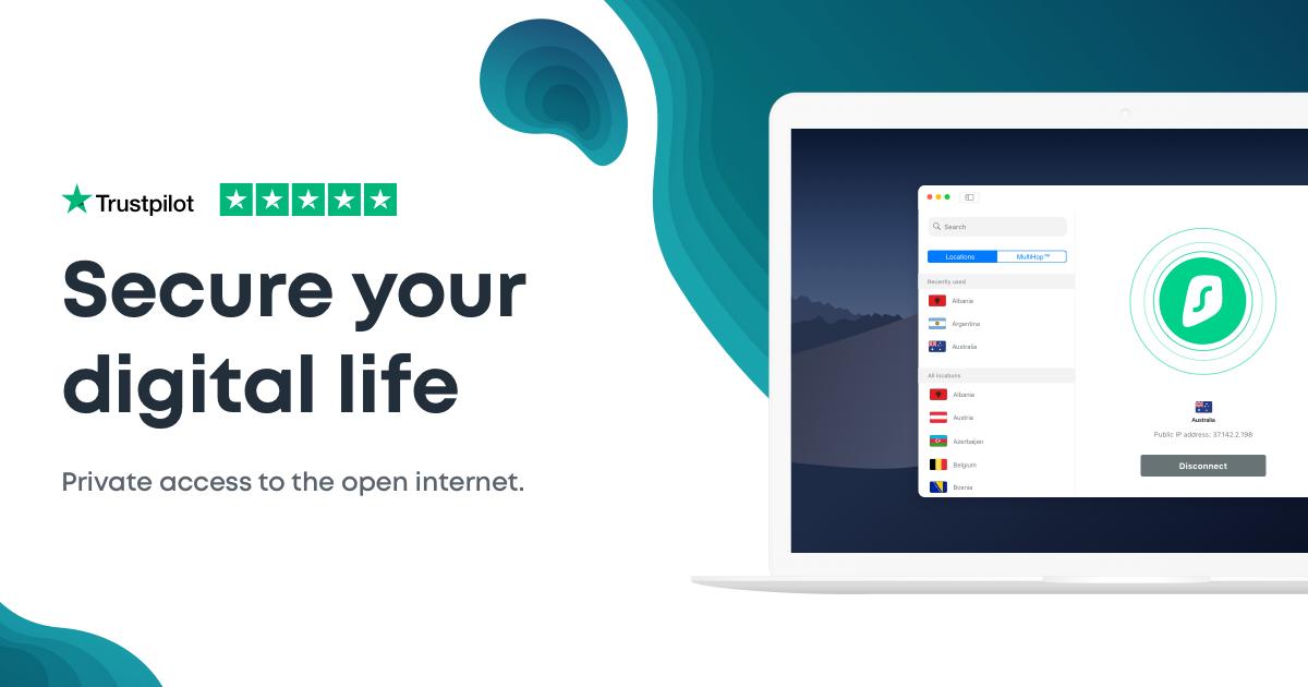 Surfshark VPN mit Shoop Cashback eff. 14,96€ für 2 Jahre
