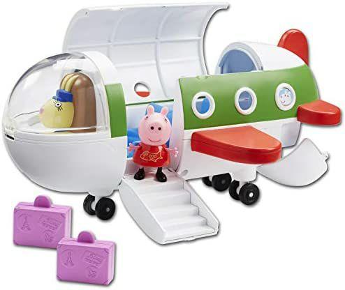 Peppa Wutz Flugzeug Spielset, Peppa Wutz Figur Peppa & Reisekoffer, 29 cm lang und ein weiteres Set [Amazon Prime]