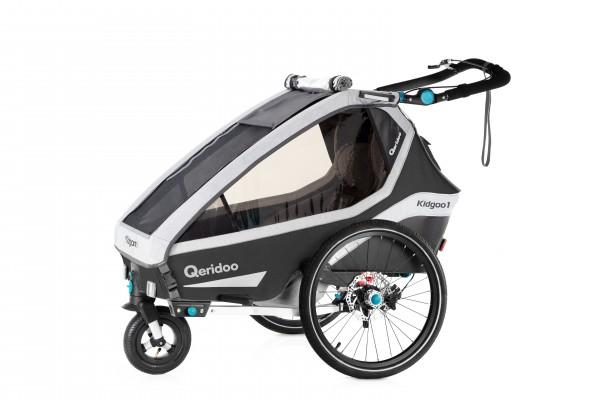 "(Babyton) Qeridoo KidGoo1 Pro (2020) Fahrradanhänger inkl. 14"" Joggerrad"