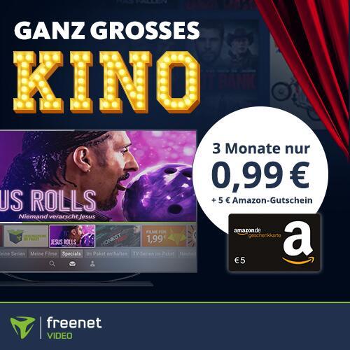 3 Monate Freenet Video mit eff. 4,01€ Gewinn durch 5€ Amazon Gutschein: z.B. Synchronic (IMDb 6,2), Honest Thief (IMDb 6,0) etc.