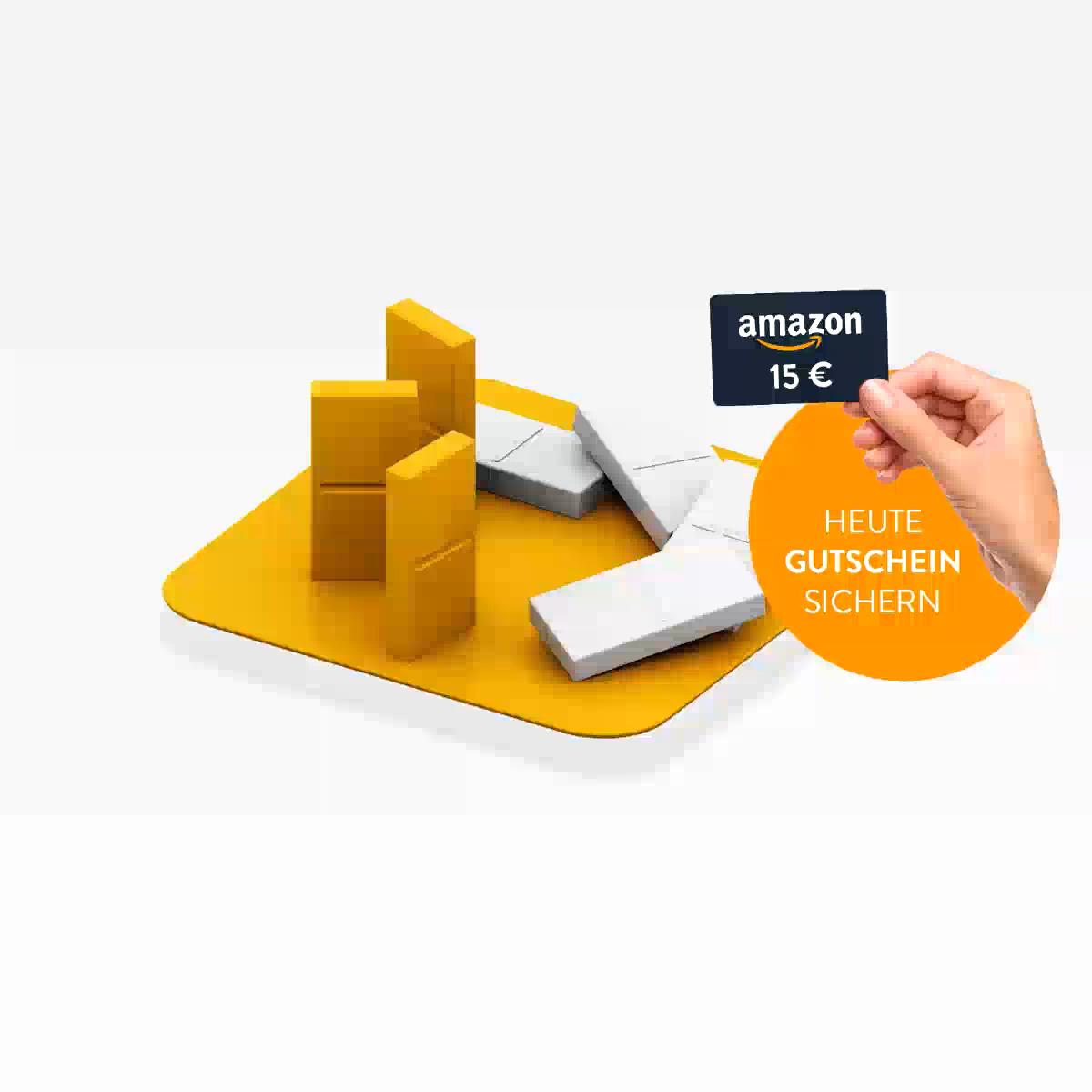 HUK24 15€-75€ Amazongutschein bei Versicherungsabschluß NUR HEUTE!
