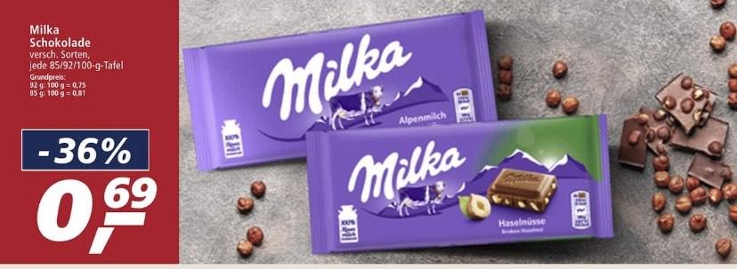 Milka Schokoladen div. Sorten für 0,69 € bei Real