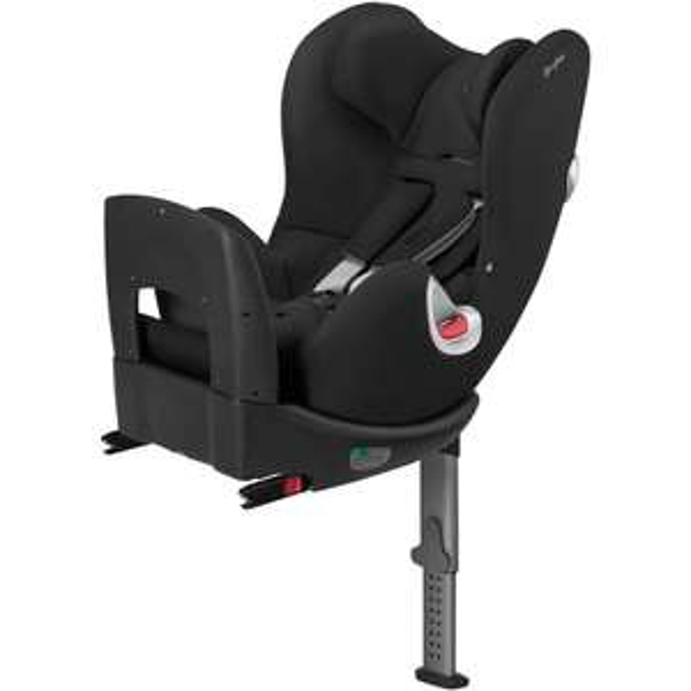 Cybex Sirona Platinum Plus Reboarder Kindersitz Autositz ISOFIX schwarz (360°-Drehmechanismus, ab der Geburt bis ca. 4 Jahre)