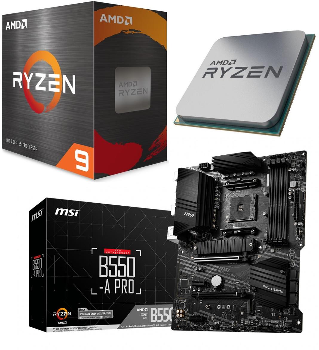 Vormontiertes Aufrüst-Kit: AMD Ryzen 9 5900X + MSI B550-A Pro (Komponenten konfigurierbar)