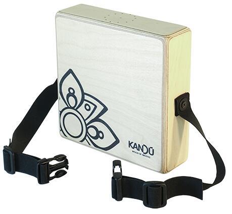 Kandu Mini-Cajon mit Haltegurt für den Bauch (handgefertigt) mit zwei Trommelklängen + integriertem Shaker 467g