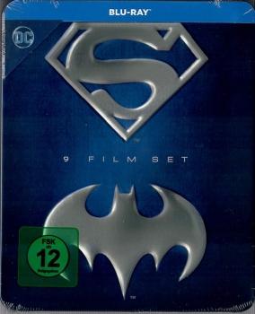[alphamovies] Batman Superman Anthology – 9 Film Set | Blu Ray Tin-Box