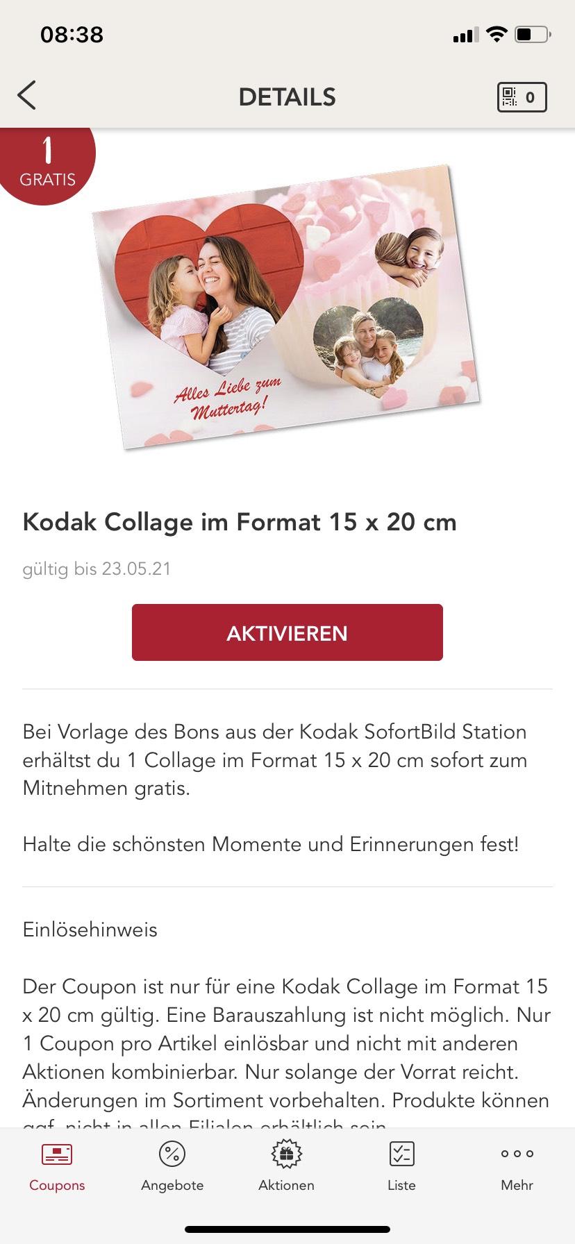(Personalisiert?) Freebie Kodak Collage 15x20 cm
