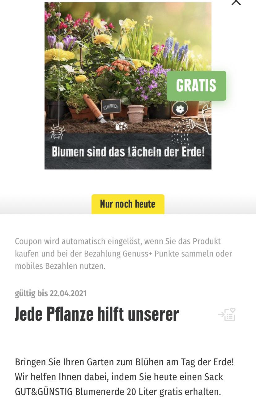 Blumenerde 20 Liter Kostenlos Edeka Genuss App *Edeka Nord*