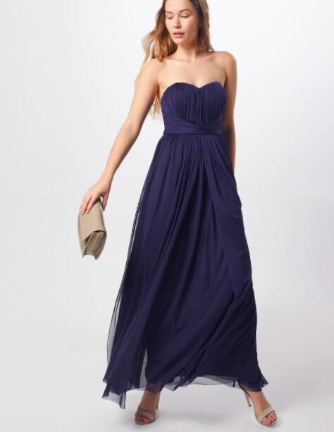 30% (extra) Rabatt auf Kleider bei Peek & Cloppenburg, z.B. Lipsy Abendkleid aus Mesh mit Taillenbändern in Dunkelblau