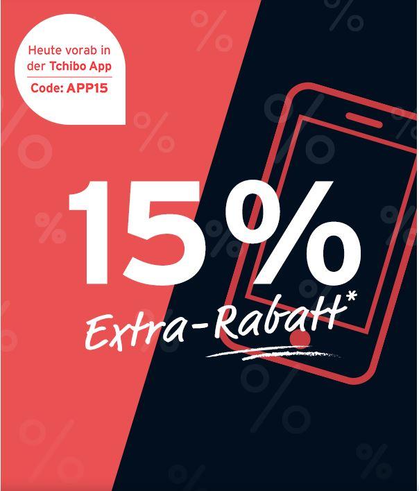 [tchibo] 15% Rabatt am 23.4. auf ausgewählte Sale Artikel