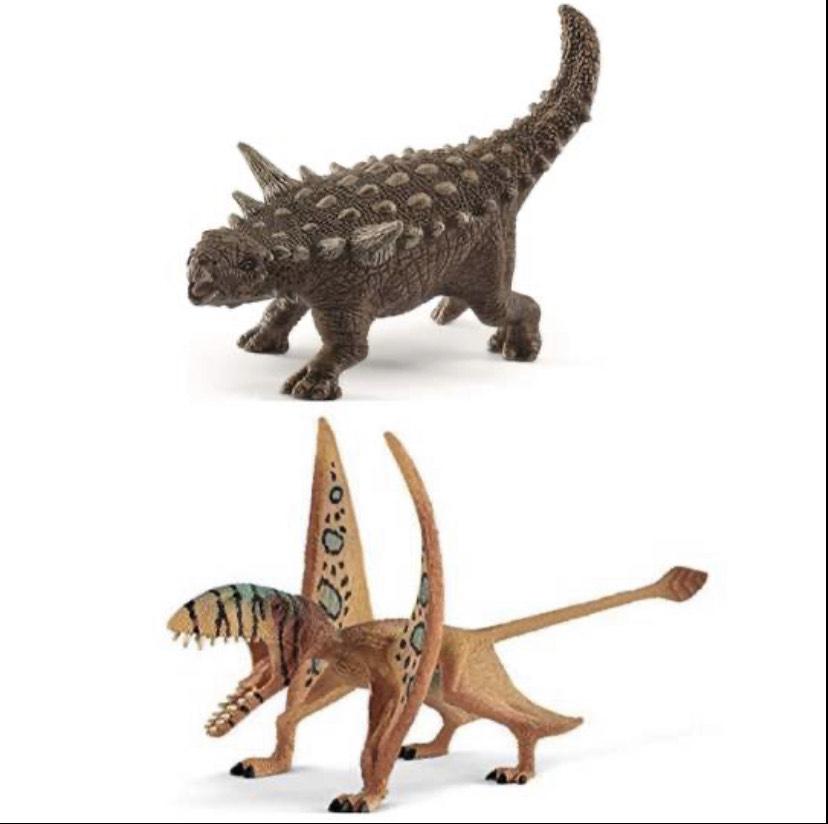 Schleich Dinosaurier Dimorphodon und Animantarx, Spielzeug ab 4 Jahren