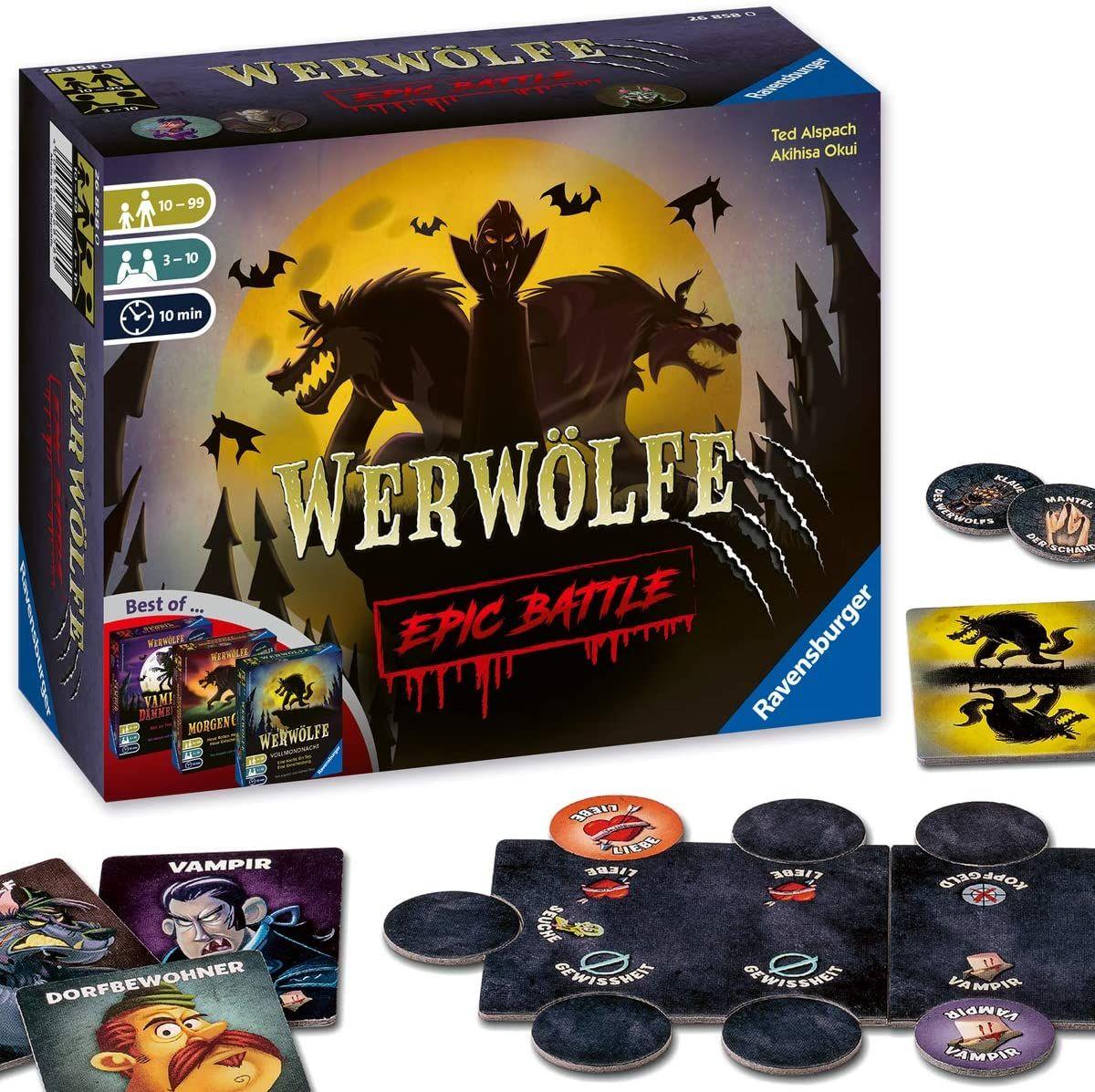 [Amazon UK] Brettspiele Sammeldeal (11), z.B. Ravensburger 26858 - Werwölfe - Epic Battle (deutsche Versionen)