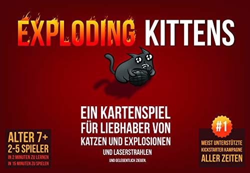[amazon.co.uk] Kartenspiel/Gesellschaftsspiel/Brettspiel Exploding kittens (Asmodee,Grundspiel, Partyspiel, Deutsch, 2-5 Spieler ab 7 J.)