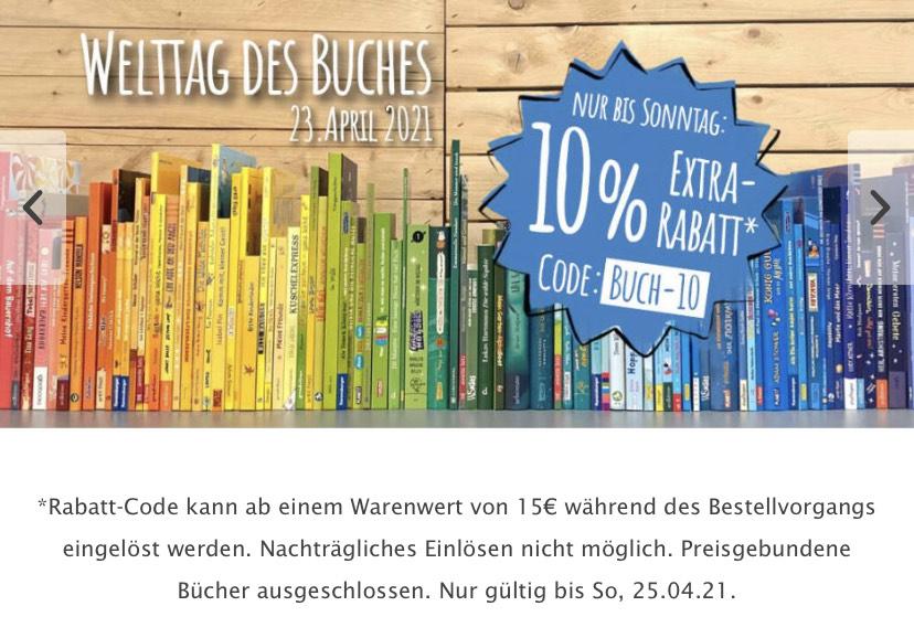 10 Prozent Rabatt ab 15 Euro Mindestbestellwert bei Kinderbuch.eu