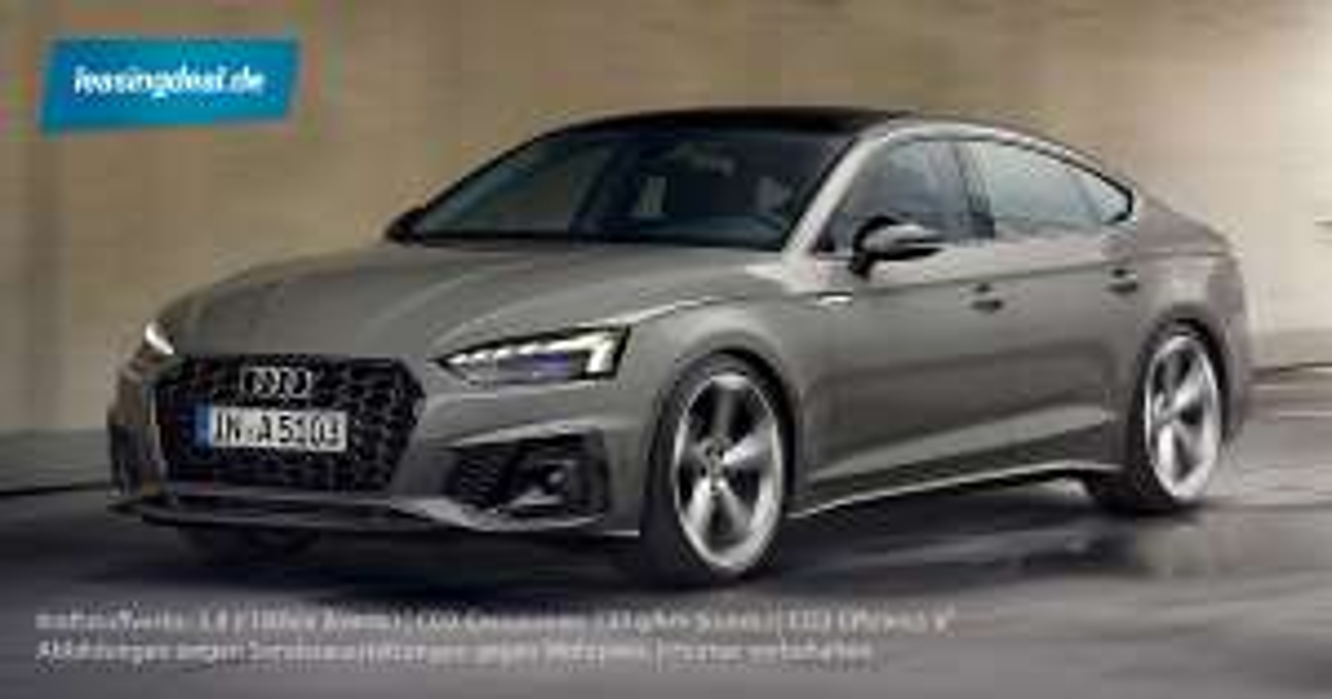 (Privatkunden) Audi A5 Sportback S-Line   48 Monate, 331€, 10tkm, 725€ ÜF, 35 TFSI (150PS), Schaltwagen, LF 0,8