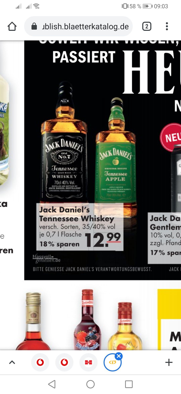 Jack Daniel's verschiedene Sorten