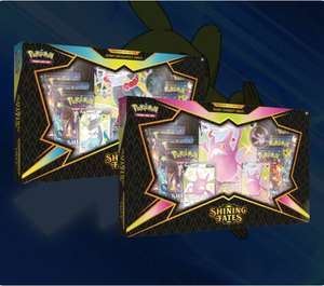 Pokemon TCG Shining Fates Premium V Max Collector's Box - Set of Two