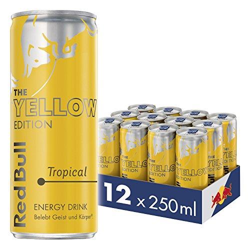 Amazon Prime: 12x 250ml Red Bull Yellow, Einzelpreis je Dose rund 79 Cent, Pfand in Höhe 3 Euro fällt zusätzlich an
