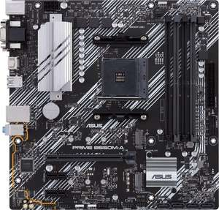 ASUS Prime B550M-A (Micro ATX, AMD AM4, 4xDDR4, PCIe 4.0, Ryzen 5000)
