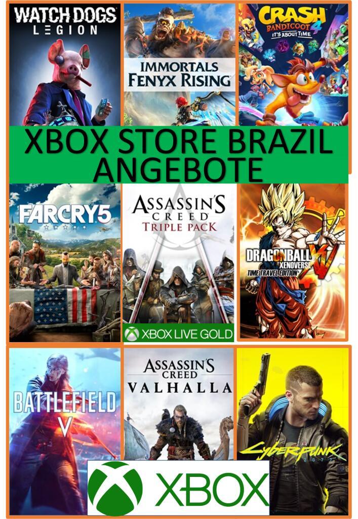 [XBOX BR, z.T. Live Gold] Mehrere Xbox Spiele wieder im Angebot, OHNE VPN! (z.B. Cyberpunk, Assassin's Creed, Far Cry & weitere)