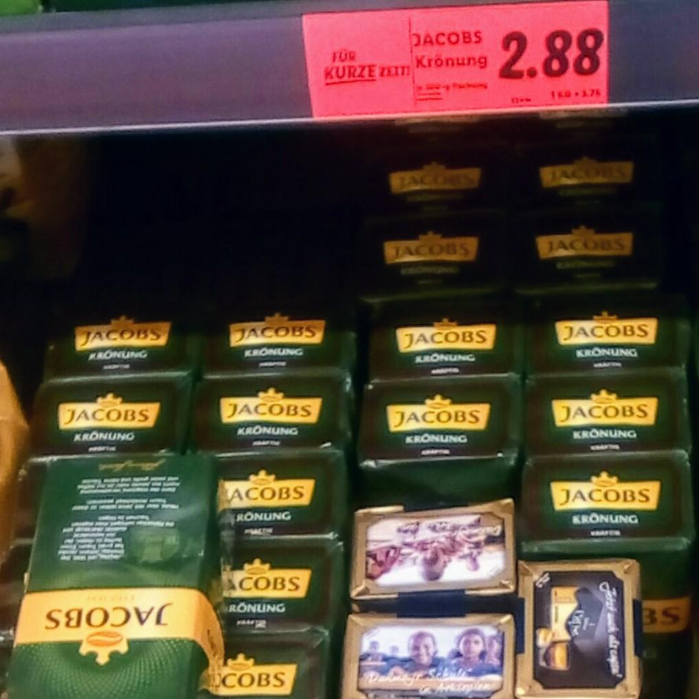 """Jacobs Kaffee Krönung """"Kräftig"""" oder """"Balance"""" 500g gemahlener Kaffee (5,76€/kg)"""