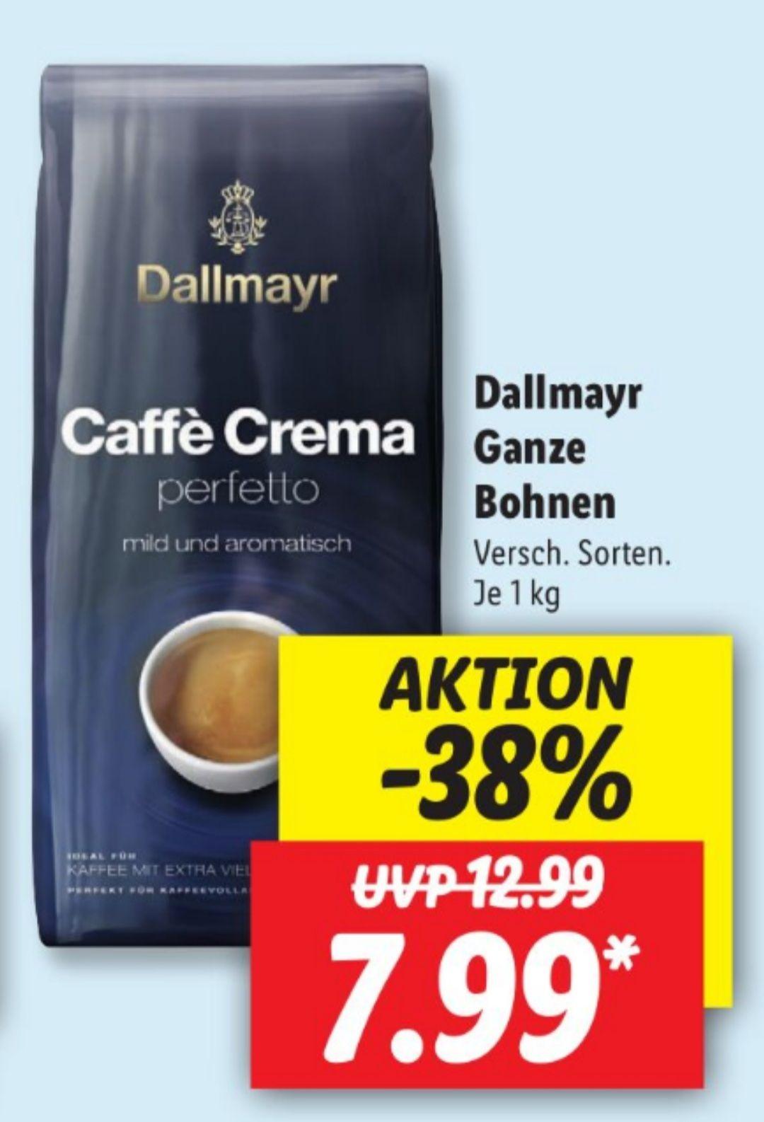 Dallmayr Ganze Bohnen 1 Kg 7,99€ statt 12,99€ UND Olivenöl Extra 500 ml 2,29€ statt 2,68€ Lidl ab 03.05