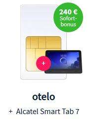 Diverse Sim Only mit gratis Tablet: z.B. Vodafone otelo 10 GB LTE bis 50 Mbit/s, Allnet/SMS Flat für 9,99€ monatlich durch Auszahlung