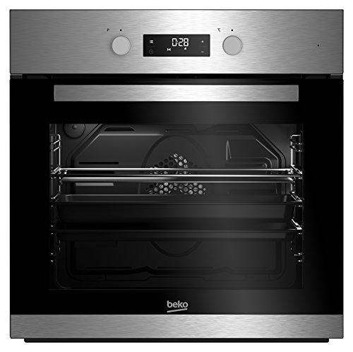 Beko BIM22301X /A/71 L/Silber/SimpleSteam Reinigungsfunktion/3D-Kochen/Pflegeleichte Emaillierung/Backofentür abnehmbar/Kühlgebläse