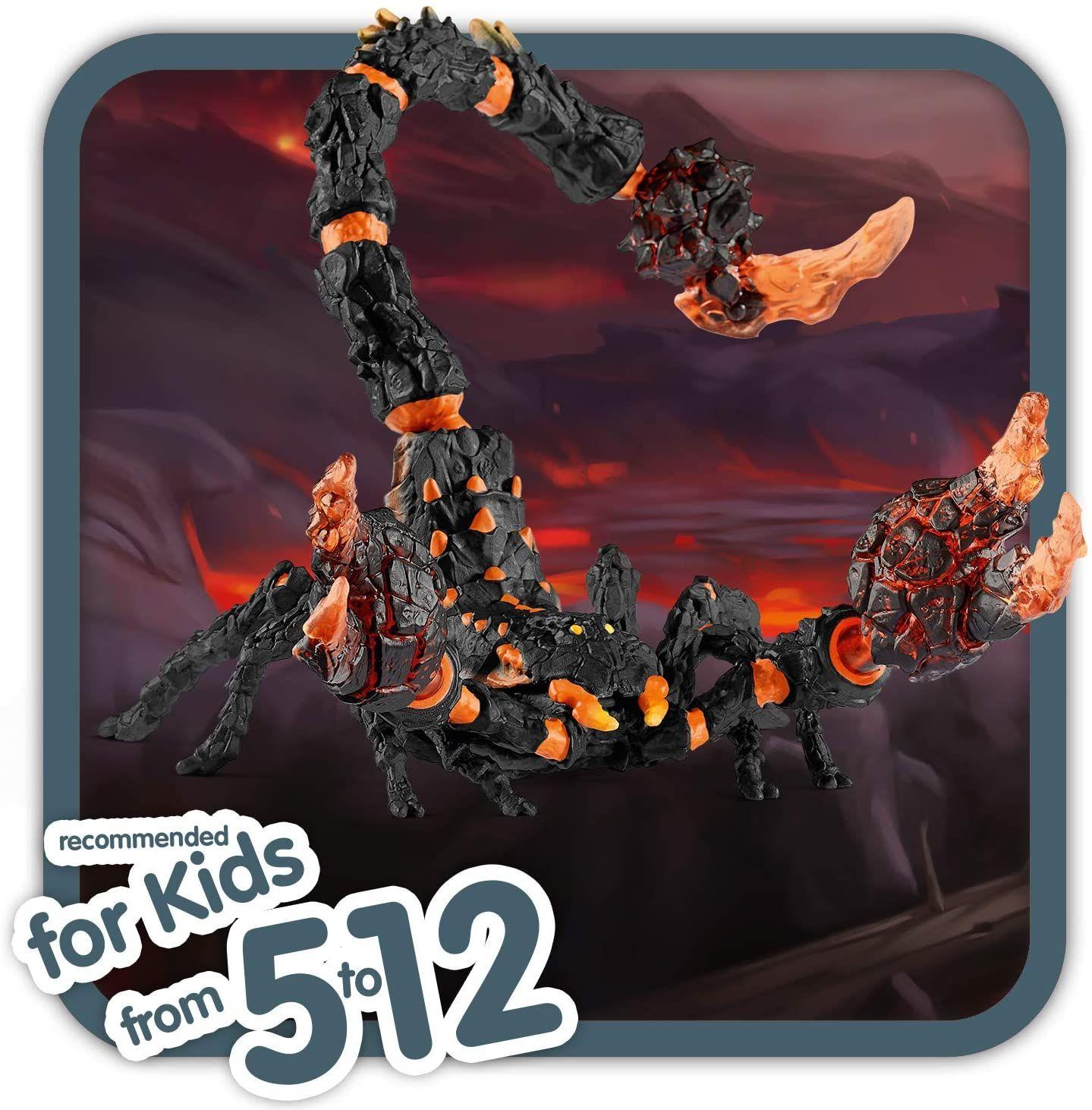 Schleich 70142 Eldrador Creatures Spielfigur - Lavaskorpion, Spielzeug ab 7 Jahren [Amazon Prime Marketplace]