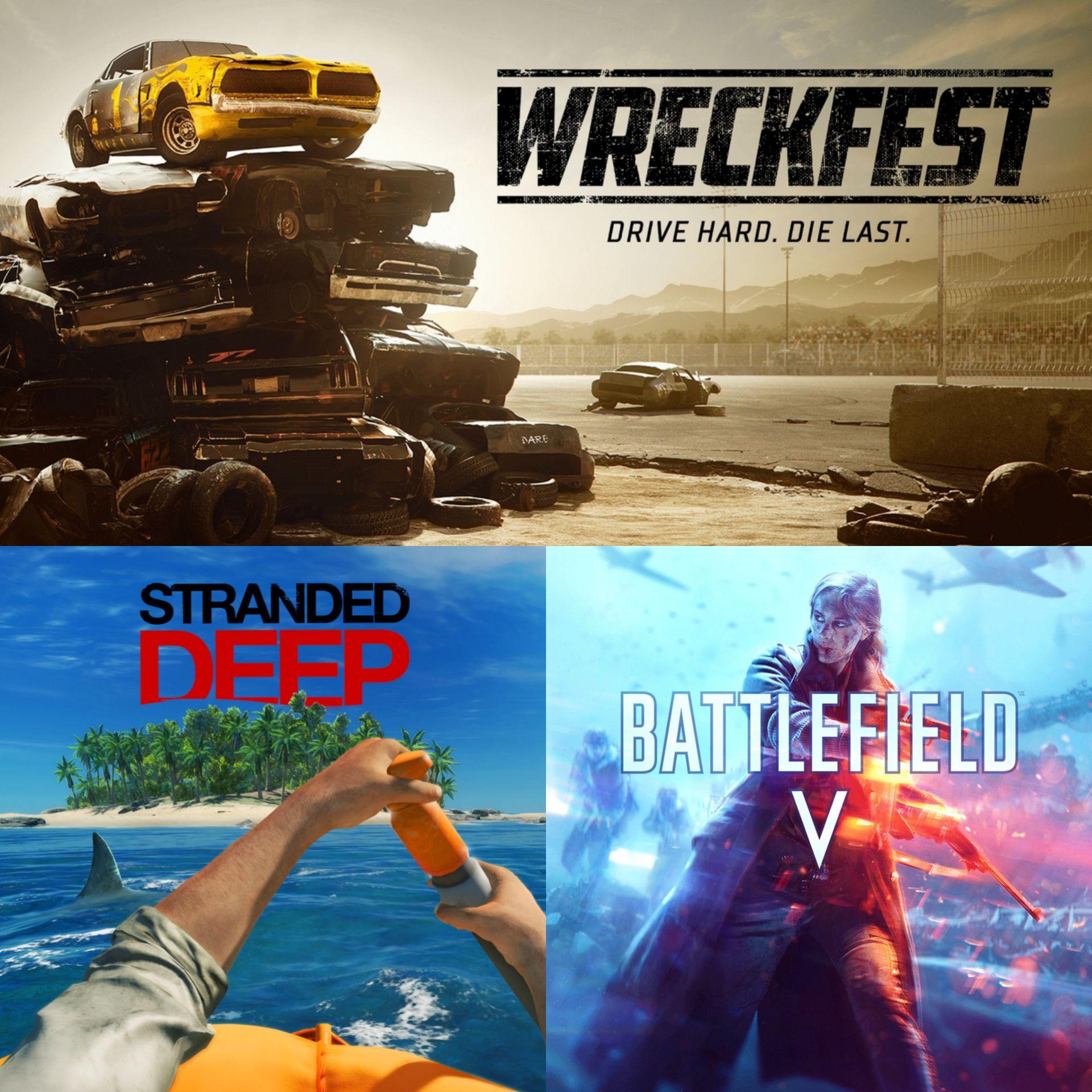 Wreckfest, Stranded Deep & Battlefield V - Kostenlos im PS Plus (ab 04.05)