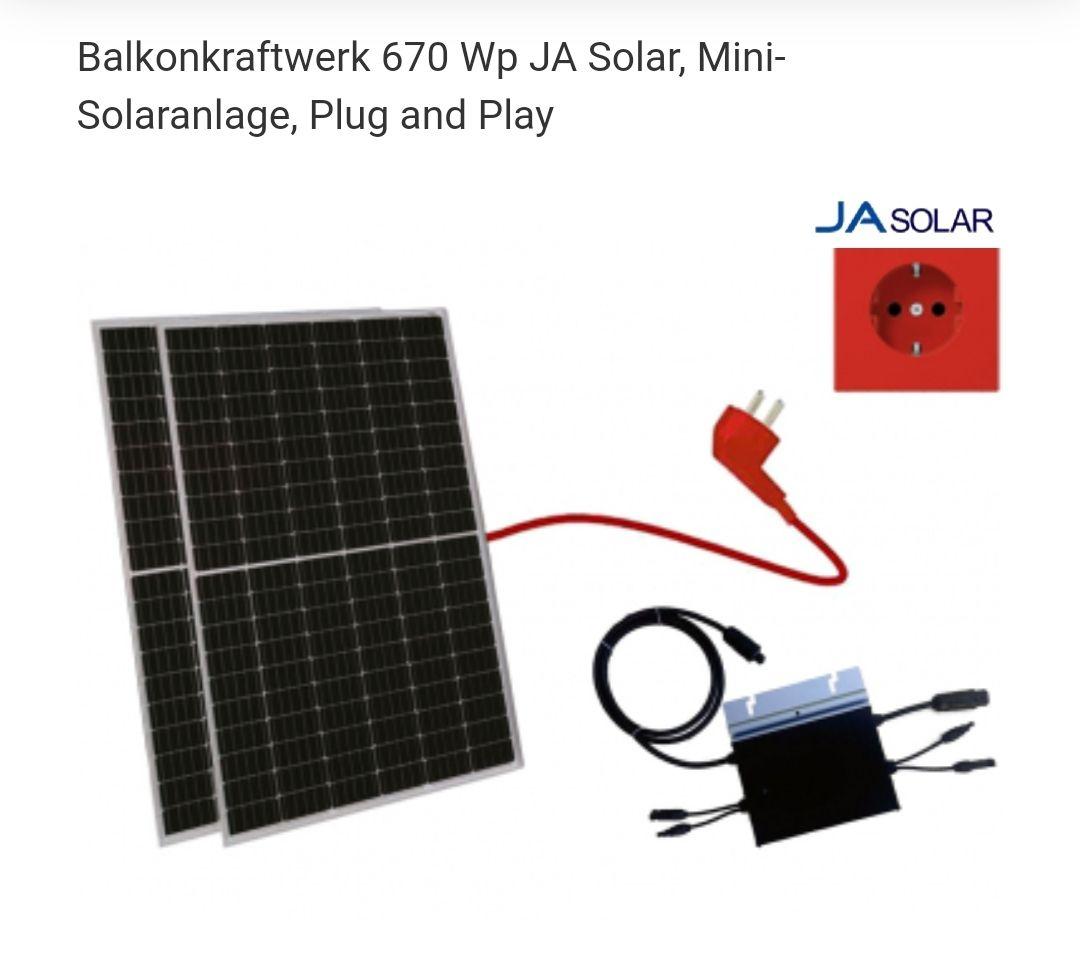 [Alpha Solar] 600W Balkonkraftwerk/ Mini PV-Anlage 2x335W (Module) mit Hoymiles HM600 Wechselrichter. (300W Pendant: 259 Euro)