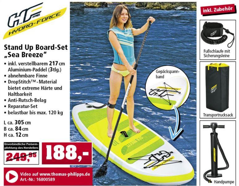 "Bestway Hydro Force Stand Up Board-Set ""Sea Breeze"" für 188 Euro [Thomas Philipps Filiale]"