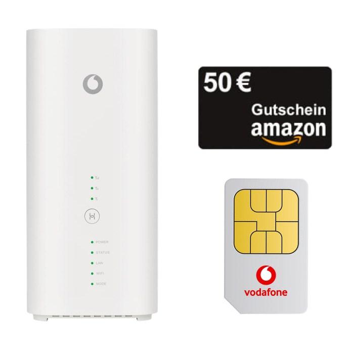 Huawei GigaCube Cat19 Router (mobiler WLAN Hotspot) + 50€ Amazon Gutschein mit Vodafone GigaCube Flex für 4,99€ ZZ + 49,99€ AG