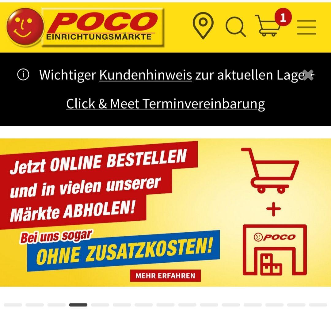 Trick: POCO Newslettergutschein auch für reduzierte Ware anwenden