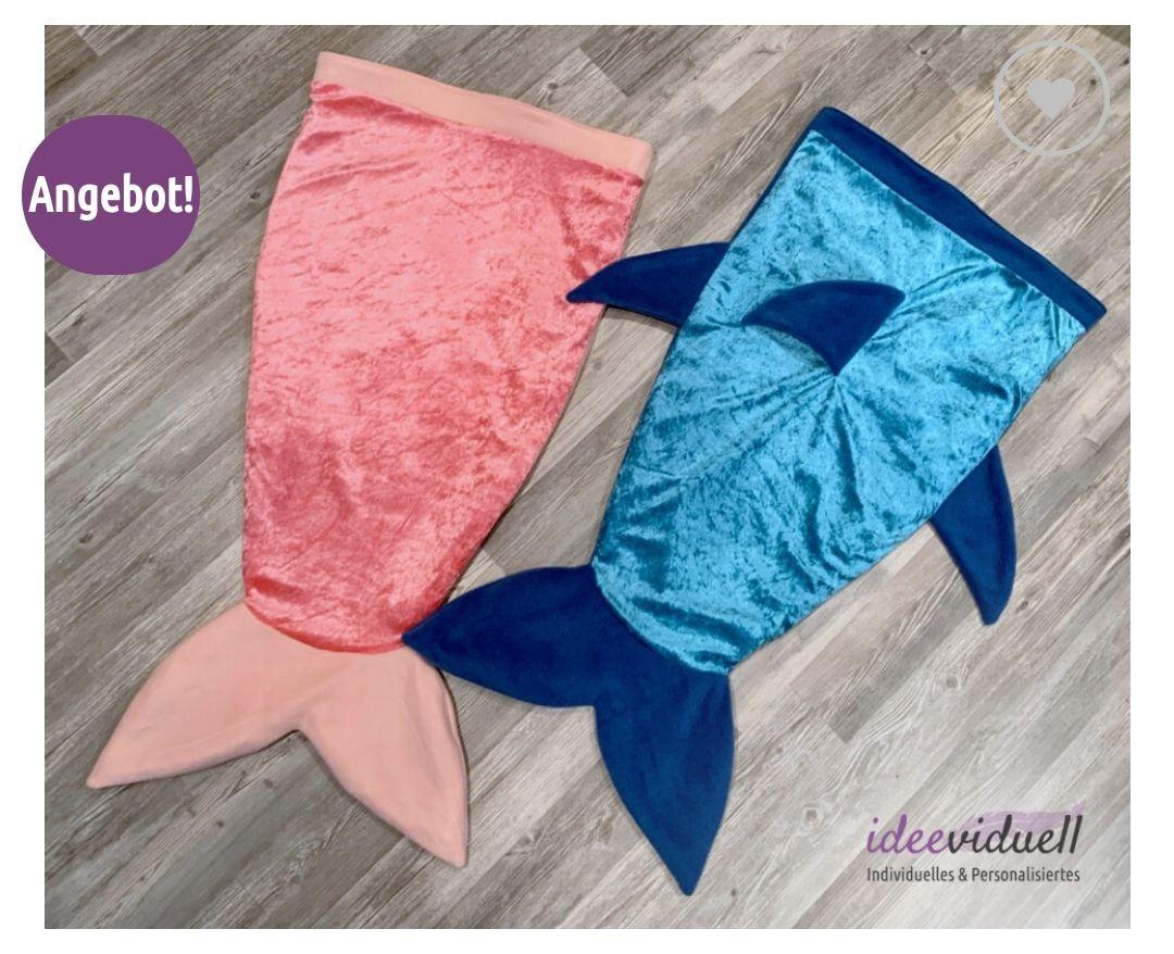 [GRATIS Schnittmuster] Ideeviduell Kostenloses Schnittmuster E-Book für eine Meerjungfrauen oder Hai Decke