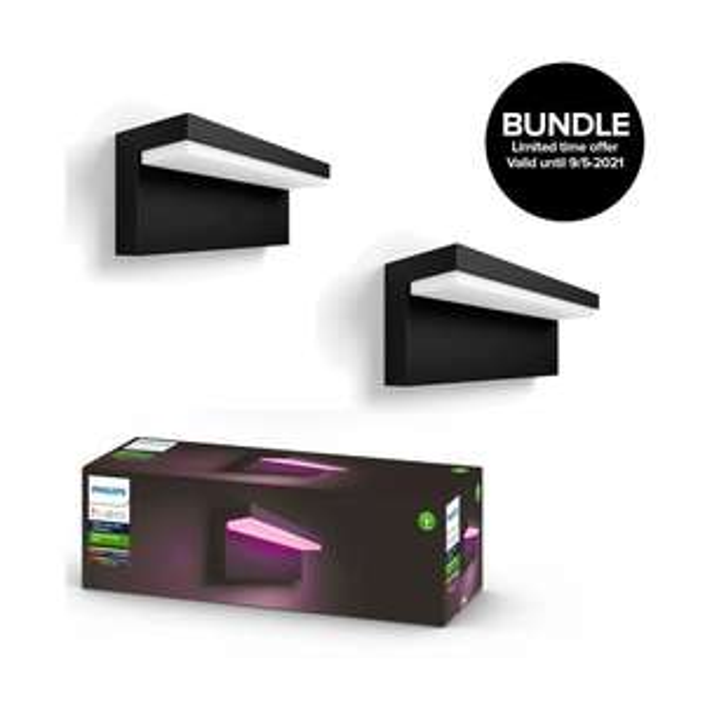 Philips Hue Doppelpack Nyro - Smarte Color Außenwandleuchte