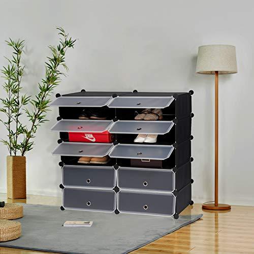 Modulares Schuhregal mit 10 Fächern in schwarz oder weiß für 28,69€ @Amazon Marketplace