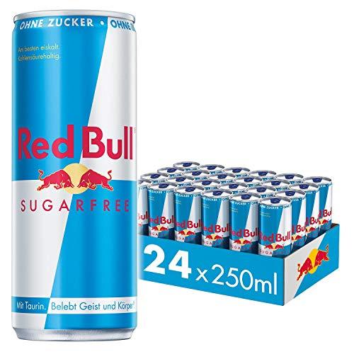 Amazon Prime: 24x 250ml Dosen Red Bull sugarfree zum Bestpreis, Pfand in Höhe von 6 € fällt zusätzlich an, gerundet 72 Cent je Dose