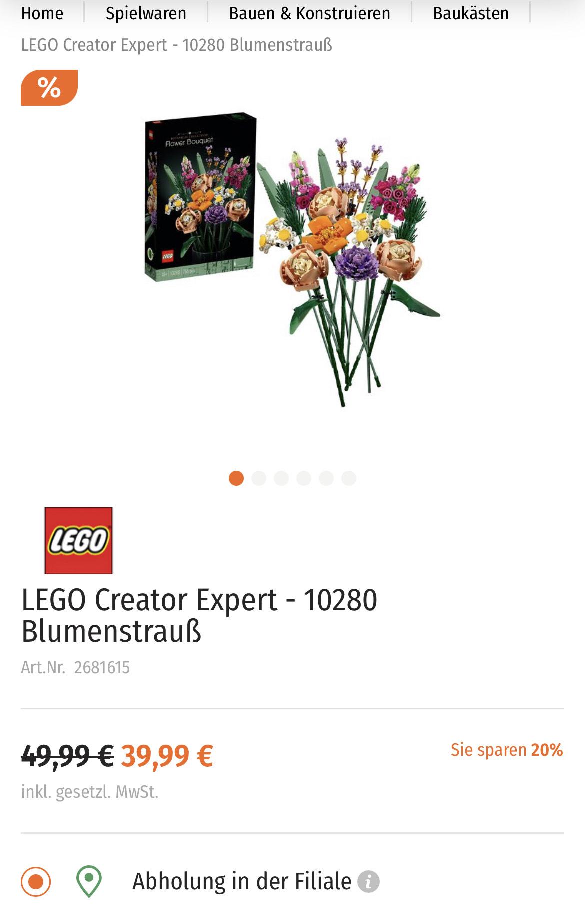 LEGO Creator Expert - 10280 Blumenstrauß [Müller Filialabholung]