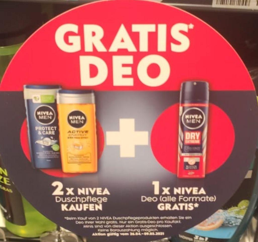[DM] 2x NIVEA Duschpflege kaufen + NIVEA Deodorant gratis dazu