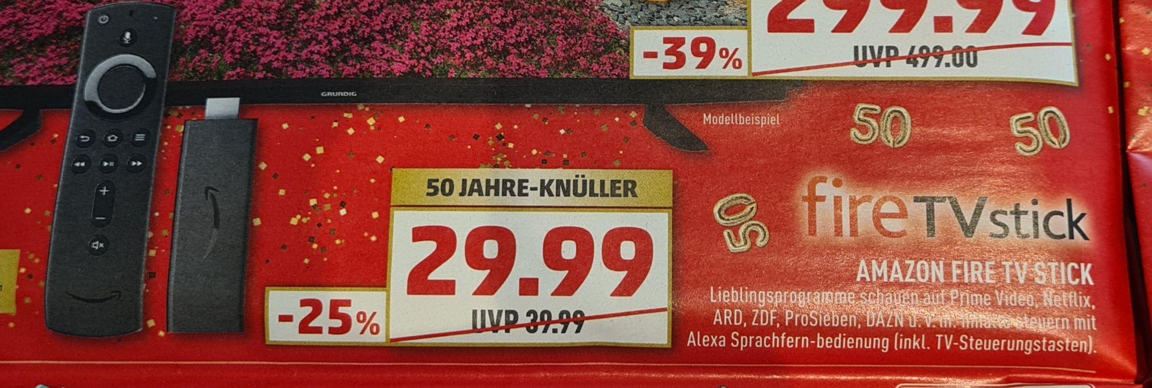 (Lokal Ratio / Marktkauf Ratingen bei Düsseldorf) Amazon Fire TV Stick