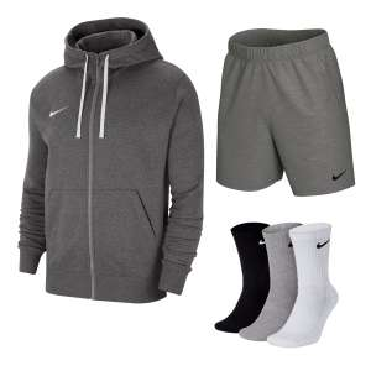 Nike Team Park 20 Outfit (Kapuzenjacke, Shorts, 3 Paar Socken)