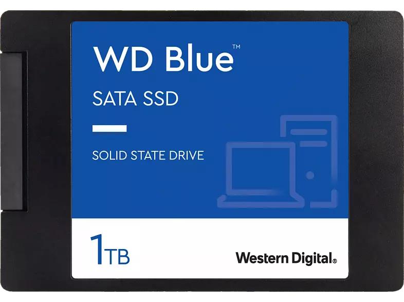Western Digital WD Blue 3D NAND SATA SSD 1TB (3D-NAND TLC, 1GB DRAM Cache, R560, W530, 5 Jahre Herstellergarantie)