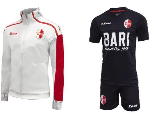 SSC Bari Zeus Sale, zB: Trainingsjacke 2017/2018 in den Größen S bis XXL