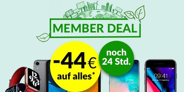 asgoodasnew 100€ auf Mac ab 500€ MBW, 44€ Rabatt ab 100€ MBW (evtl noch gültig)